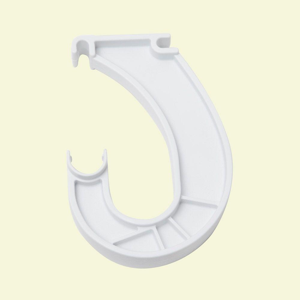 Closetmaid Superslide 6 In X 1 In White Closet Rod Bracket 5629 The Home Depot