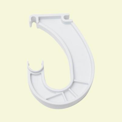 SuperSlide 6 in. x 1 in. White Closet Rod Bracket