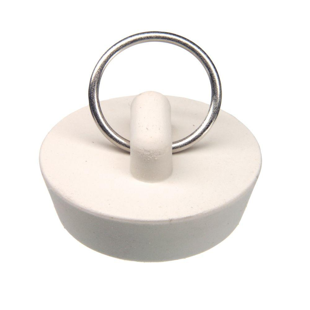 1-1/4 in. Rubber Stopper in White