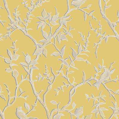 Laos Trail Yellow Removable Wallpaper Sample