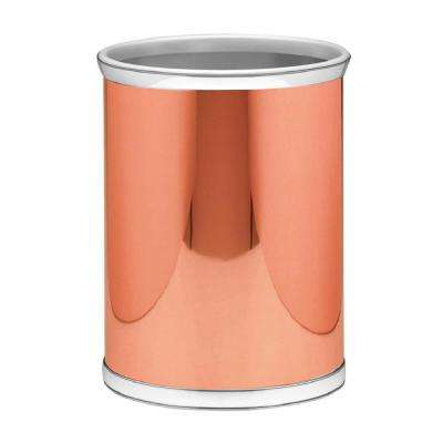Mylar 13 qt. Polished Copper and Chrome Round Waste Basket