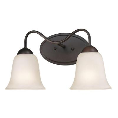 Conway 2-Light Oil-Rubbed Bronze Bath Bar Light