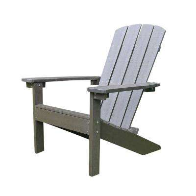 Lakeside Espresso Plastic Adirondack Chair (1-Pack)