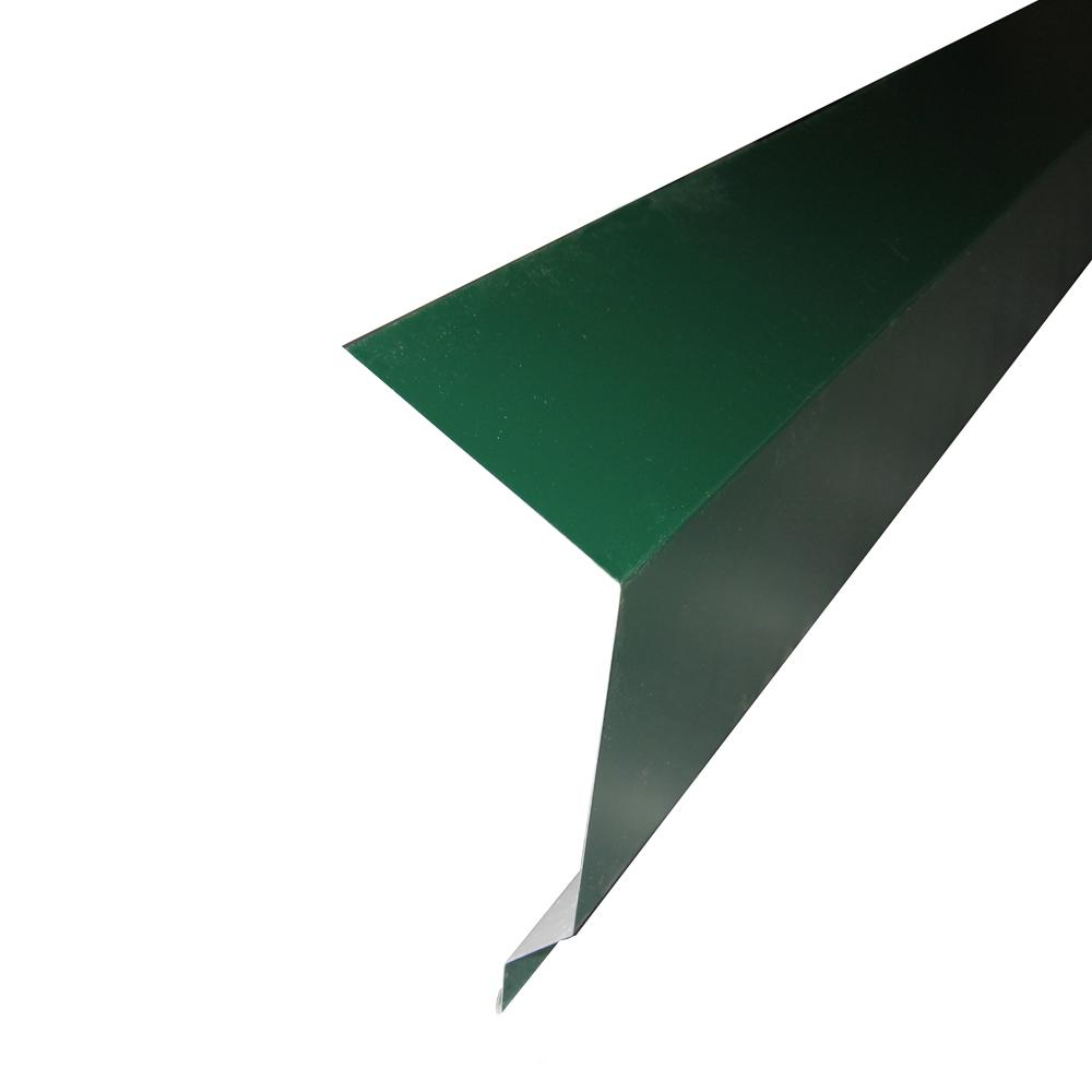 Outside Corner 10.5 ft. x 4.63 in. Forest Green Metal Side