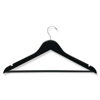 Ebony Wood Suit Hangers (8-Pack)