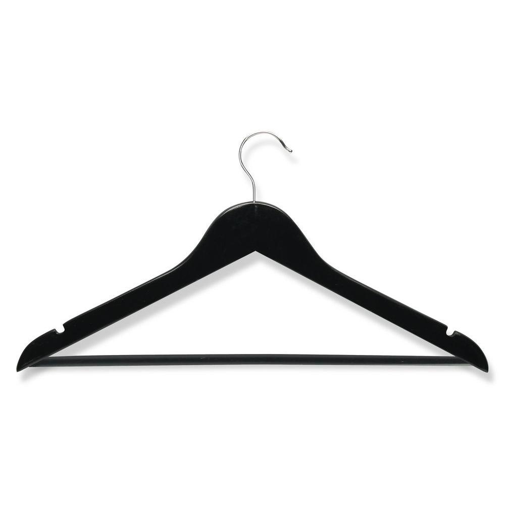 Ebony Wood Suit Hangers (8-Pack)