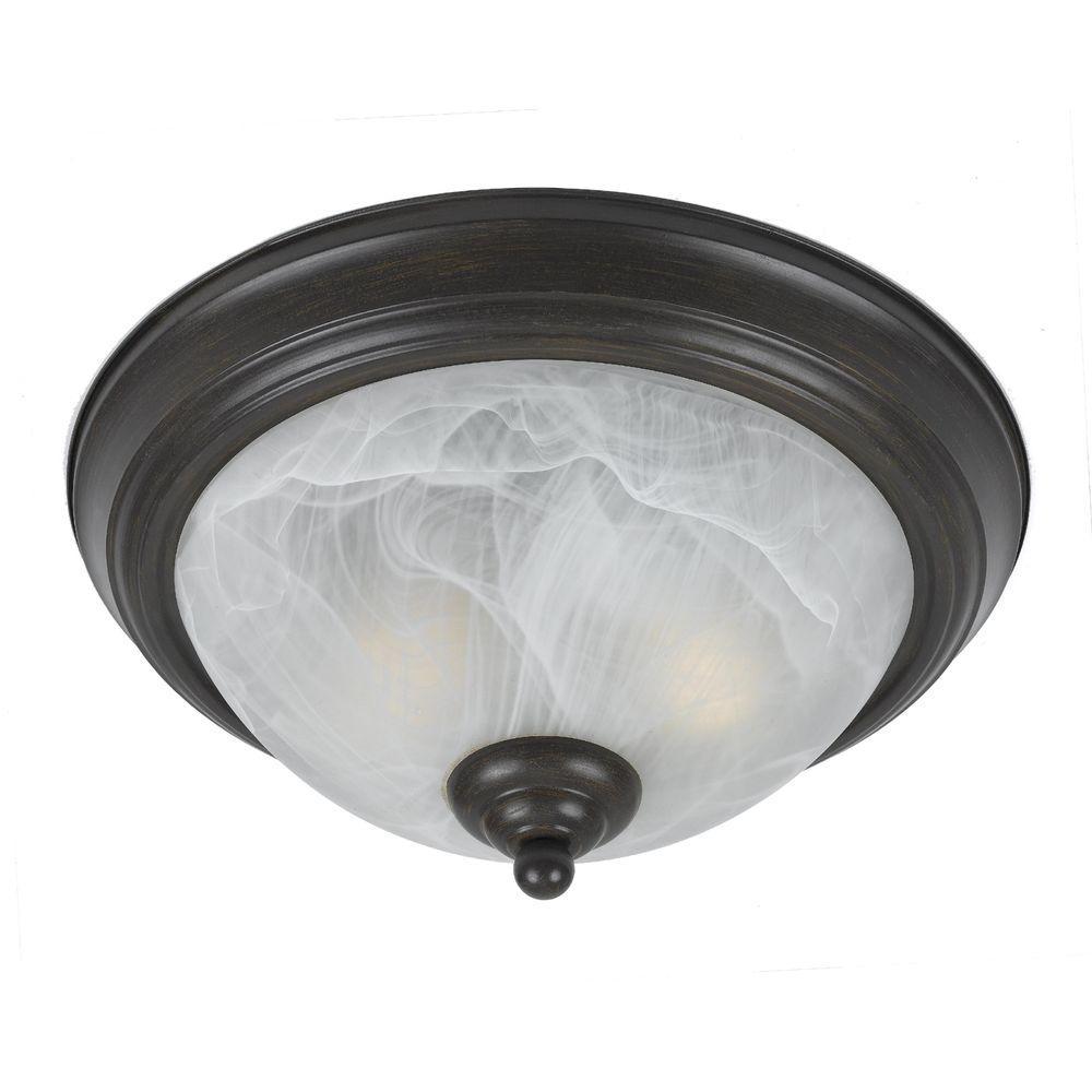 Filament Design Value 2-Light Rust Flush Mount