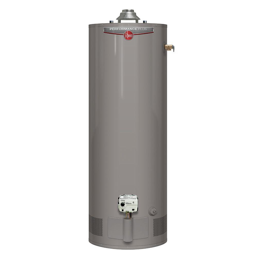 Rheem Hot Water Heaters >> Rheem Performance Plus 40 Gal Tall 9 Year 36 000 Btu Liquid