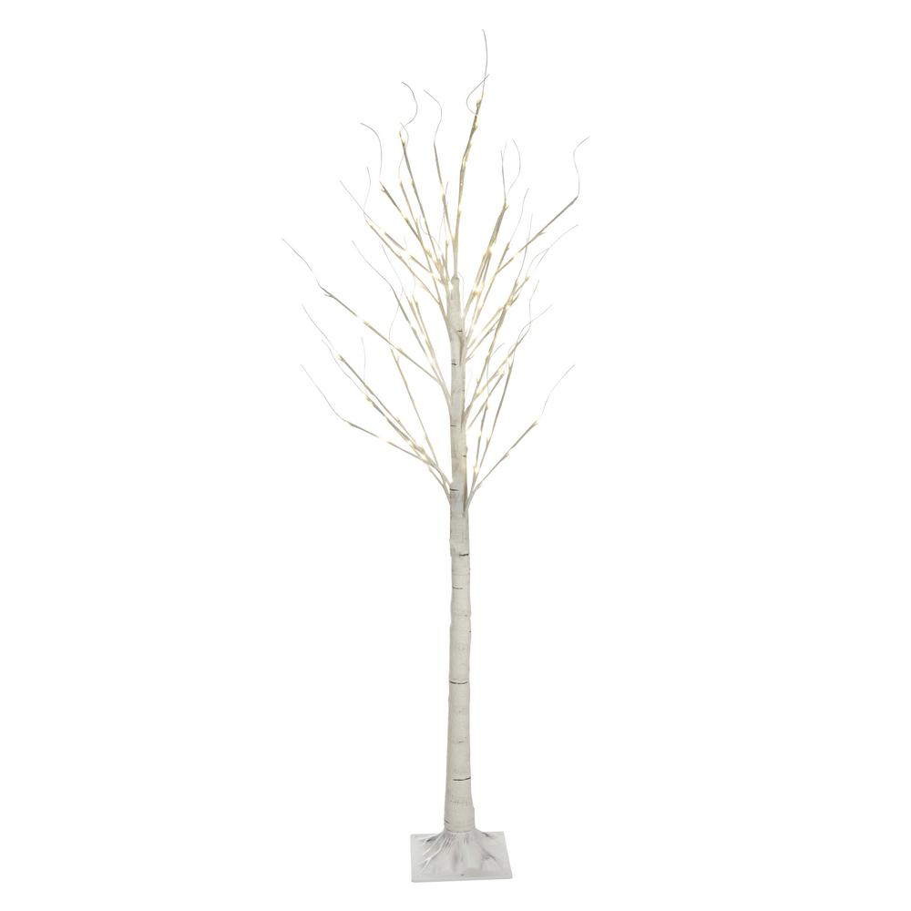 Hi-Line Gift 7 ft. 120 LED Birch Tree with 8-Lighting Functions