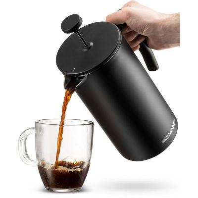 34 oz. Black Stainless Steel French Press