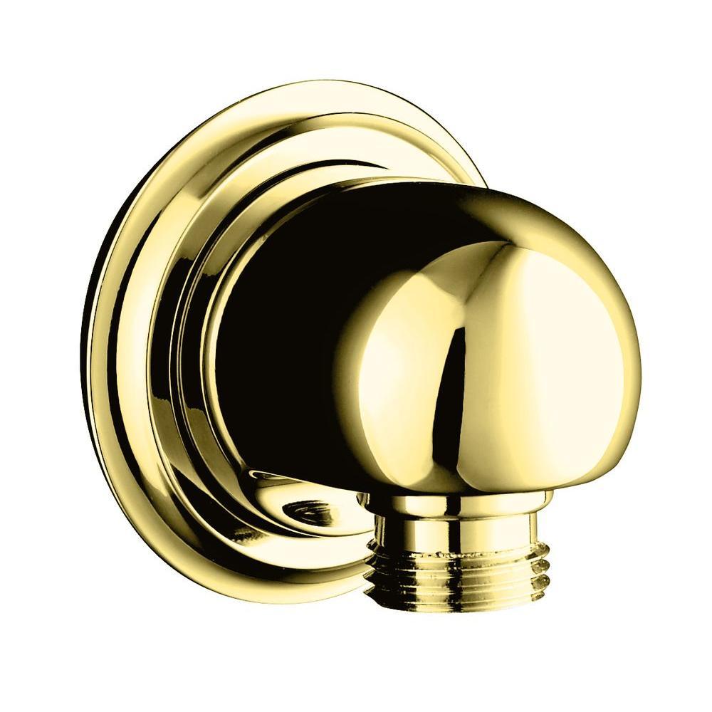 KOHLER Forte Supply Elbow in Vibrant Polished Brass