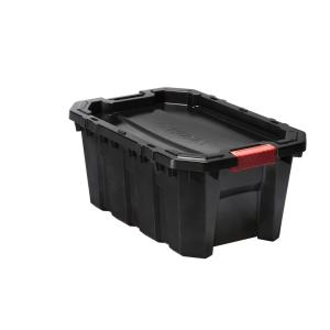 15 Gal. Latch and Stack Tote in Black
