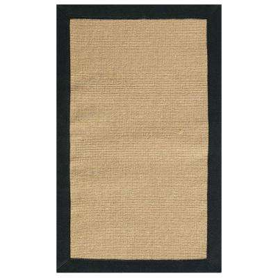 Washed Jute Black 9 ft. 6 in. x 13 ft. Area Rug