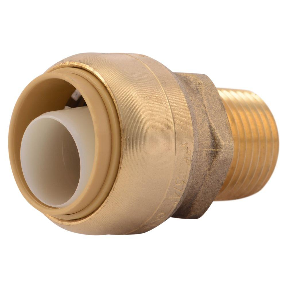 SharkBite 3/4 in. Push-to-Connect x 1/2 in. MIP Brass Reducing Adapter Fitting