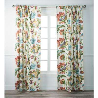 Modernism Confetti Cotton Lined Tailored Panel - 50 in. W x 63 in. L