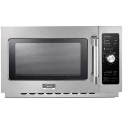 1.2 cu. ft. 1400-Watt Commercial Counter Top Microwave Oven in Stainless Steel Interior and Exterior