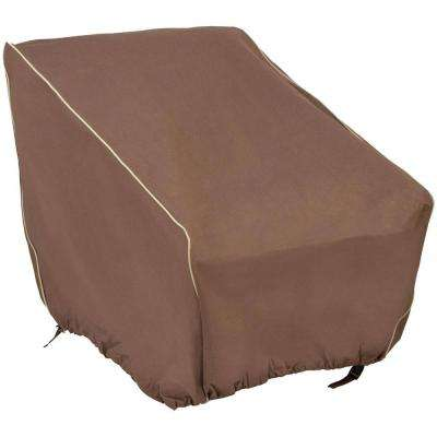 33 in.  x 35 in.  x 36 in.  Brown Chair Cover