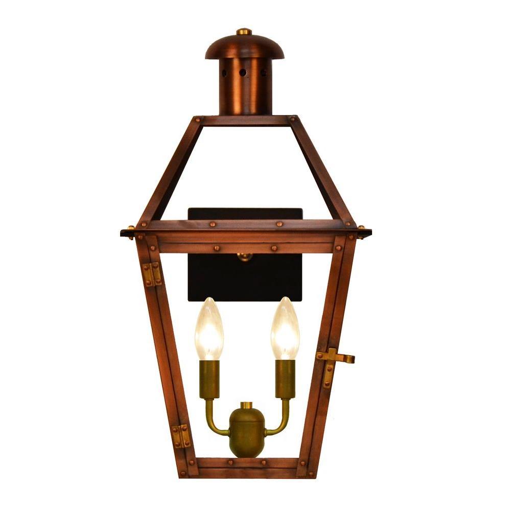 Filament Design Addison 2-Light Copper Outdoor Wall Lantern