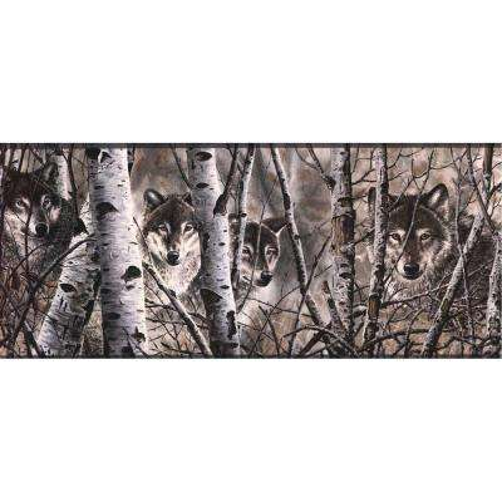 Lake Forest Lodge Wolves Wallpaper Border