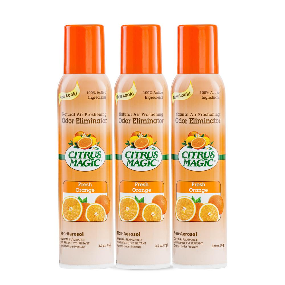 Citrus Magic 3 oz. Tropical Orange All Natural Odor Eliminating Air Freshener Spray (3-Pack)