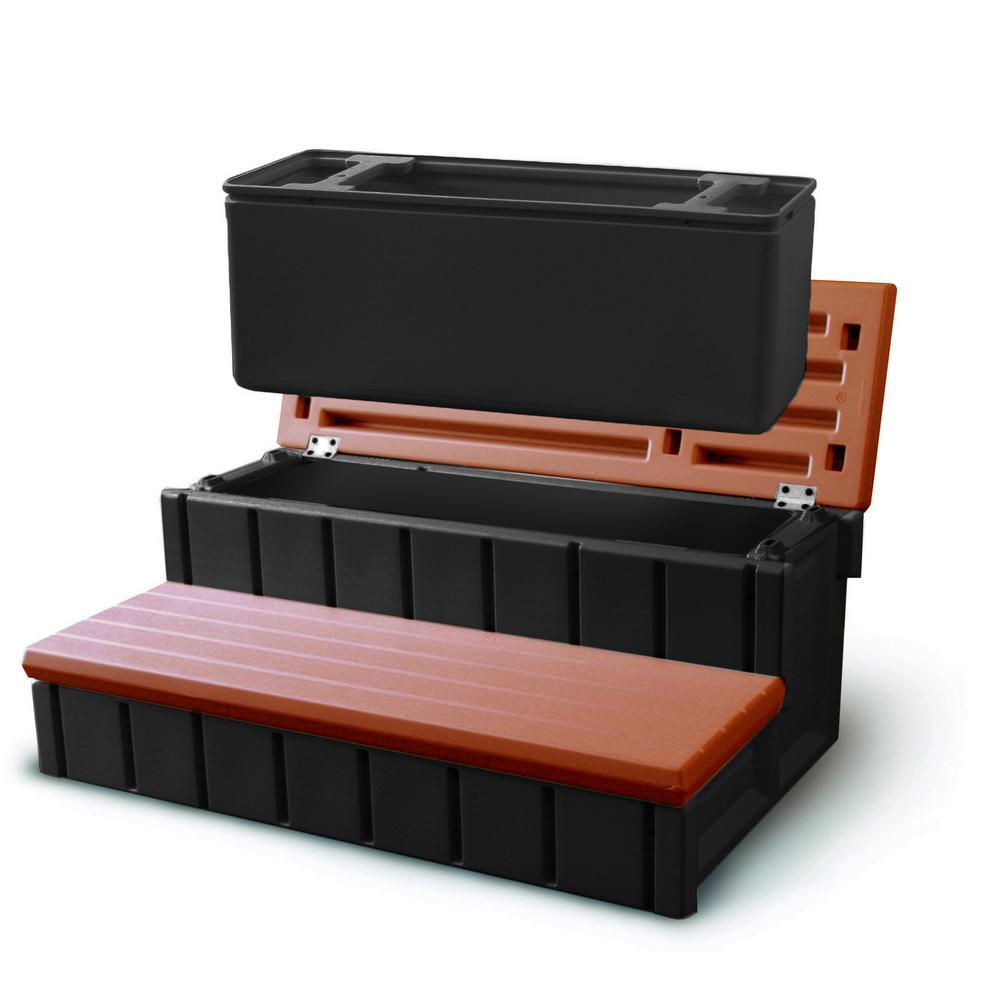 Spa Step w/ Storage - Redwood