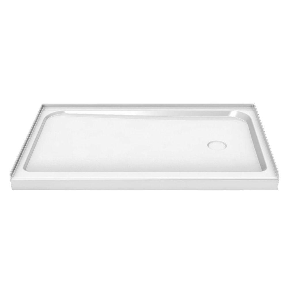 MAAX 60 in. x 32 in. Single Threshold Shower Base with Right Drain in White