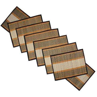 Black and Brown Hand Crafted Table Mat and Table Runner (Set of 6)