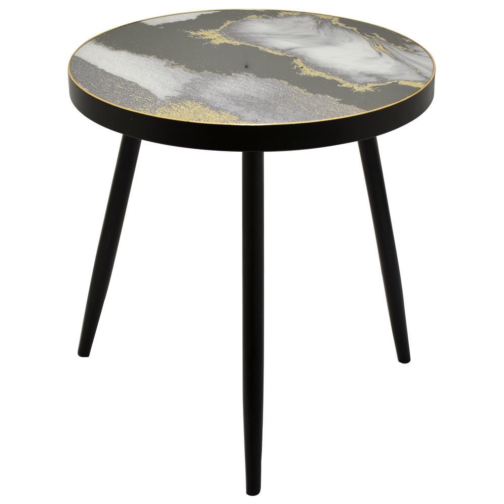 Black Wood Decorative Table