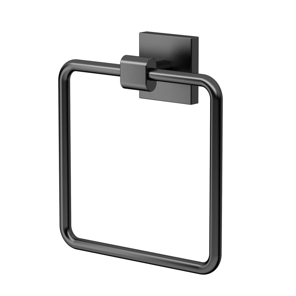 gatco bathroom accessories. Elevate Towel Ring In Matte Black Gatco Bathroom Accessories