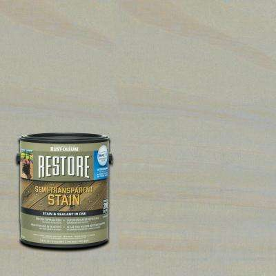 1 gal. Semi-Transparent Stain Cape Cod Gray with NeverWet