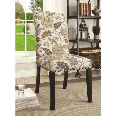 Solomon Collection Floral/Cappuccino Side Chair (Set of 2)