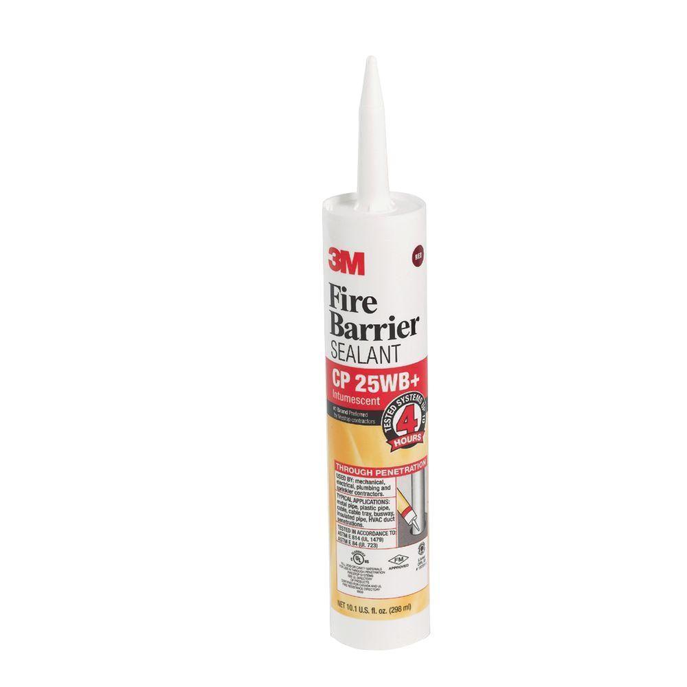 3M 10.1 fl. oz. Red Fire-Barrier Sealant Caulk CP 25WB Plus