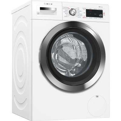 800 Series 24 in. 2.2 cu. ft. White with Chrome Accents and Home Connect High-Efficiency Front Load Washer, ENERGY STAR