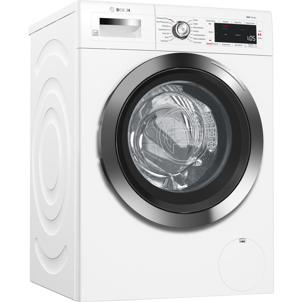 800 Series 24 in. 2.2 cu. ft. White with Chrome Accents and