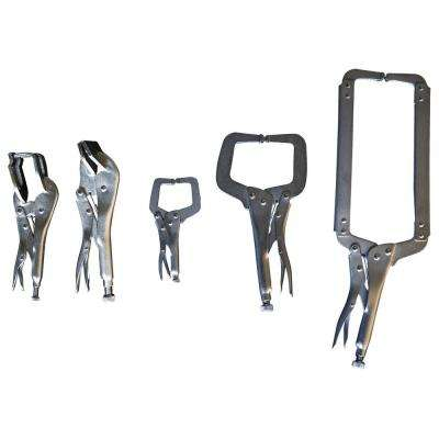Locking C-Clamp, Welding Clamp and Sheet Metal Clamp Set (5-Piece)