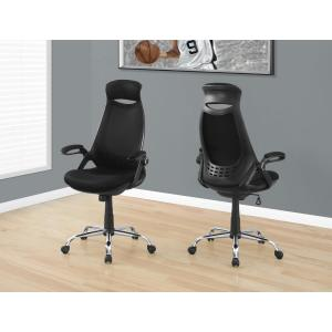Nice Monarch Specialties Black High Back Executive Office Chair I 7268   The  Home Depot