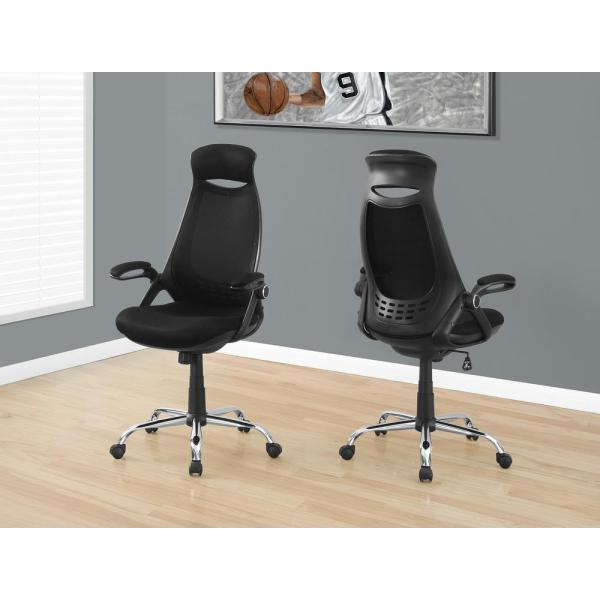 Monarch Specialties Black High Back Executive Office Chair I 7268