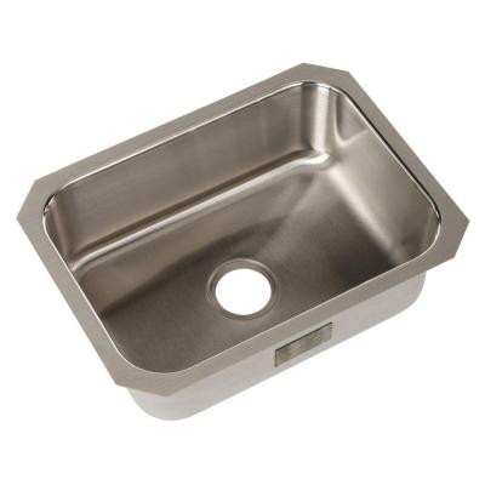 McAllister Undermount Stainless Steel 24 in. Single Bowl Kitchen Sink