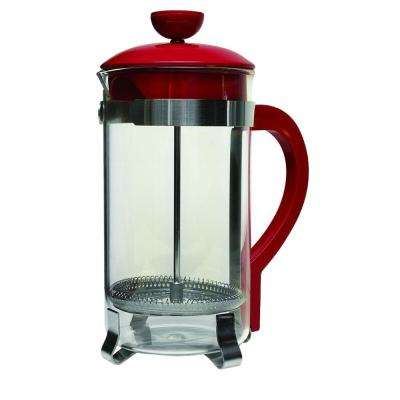 8-Cup Classic Coffee Press Tea Kettle in Metallic Red