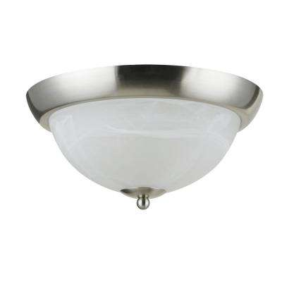 Bisbee Collection 2-Light Satin Nickel Flushmount