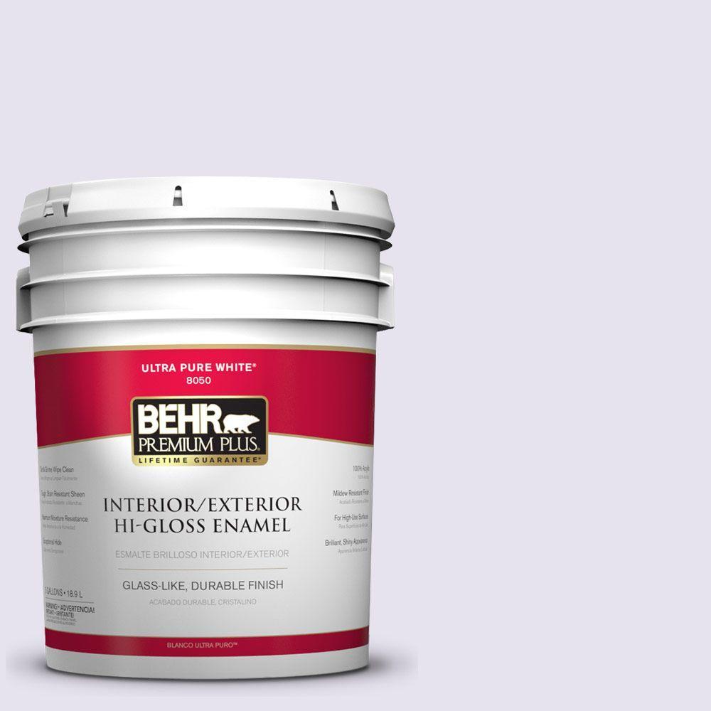 BEHR Premium Plus 5-gal. #640A-1 Soft Iris Hi-Gloss Enamel Interior/Exterior Paint