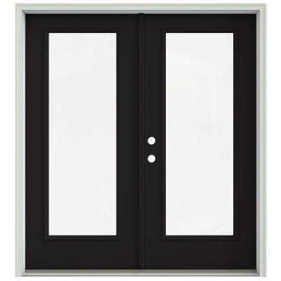 exterior french patio doors. Black Prehung Right Hand Inswing 1 Lite French 72 x 80  Patio Door Doors Exterior The