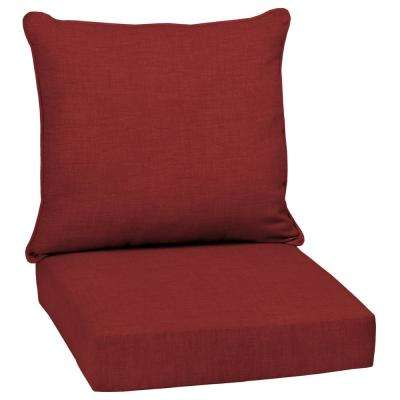 Ruby Leala Texture 2-Piece Deep Seating Outdoor Lounge Chair Cushion