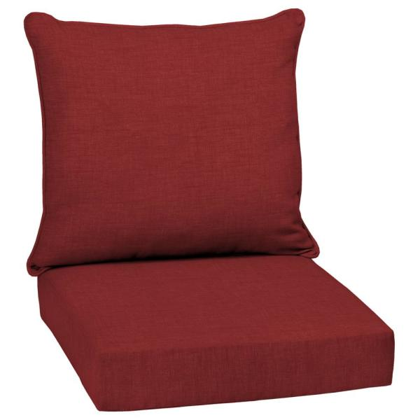 24 x 24 Ruby Leala Texture 2-Piece Deep Seating Outdoor Lounge Chair Cushion