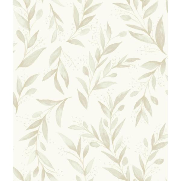 Magnolia Home by Joanna Gaines 56 sq.ft. Olive Branch Wallpaper ME1538