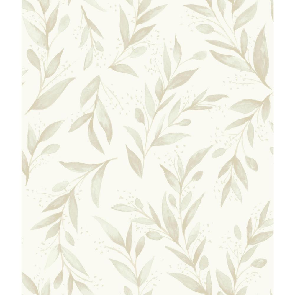 56 sq.ft. Olive Branch Wallpaper