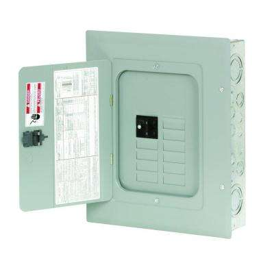 BR 100 Amp 8-Space 16-Circuit Indoor Main Breaker Loadcenter with Cover