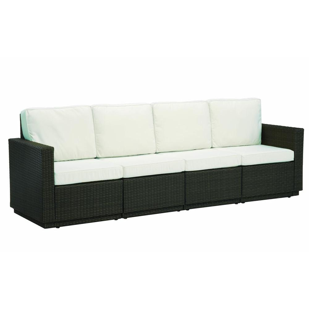 Home Styles Riviera Stone 4-Seat Patio Sofa-DISCONTINUED