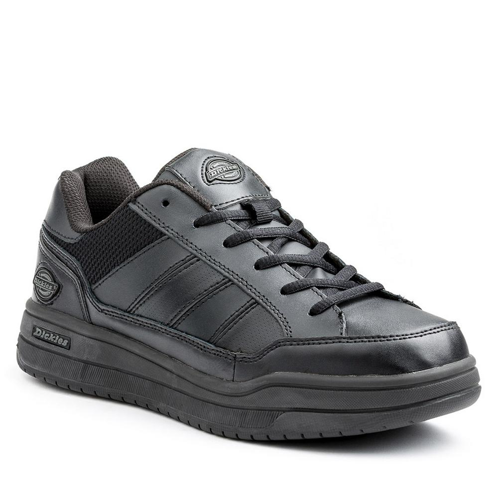 Dickies Athletic Skate Women Size 6 Black Slip Resistant Safety Work Shoe-SR3215BLK6  - The Home Depot 4bd1ba4c3abf