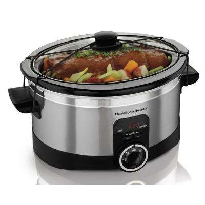 6 Qt. Programable Chrome Slow Cooker